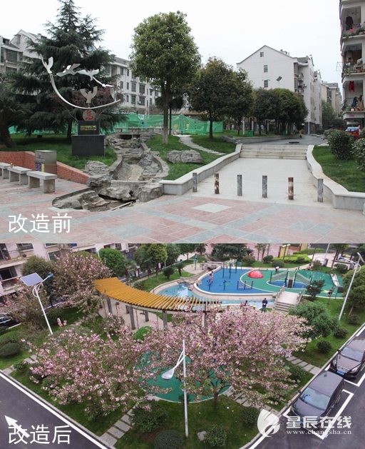 雨花区一社区居民集资1700万改造家园 小区焕然一新