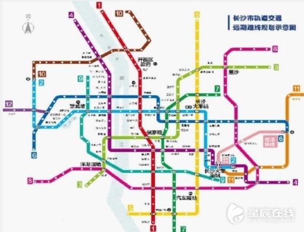 (长沙地铁5号线线路图.资料图)-长沙地铁5号线首个盾构区间贯通 图片