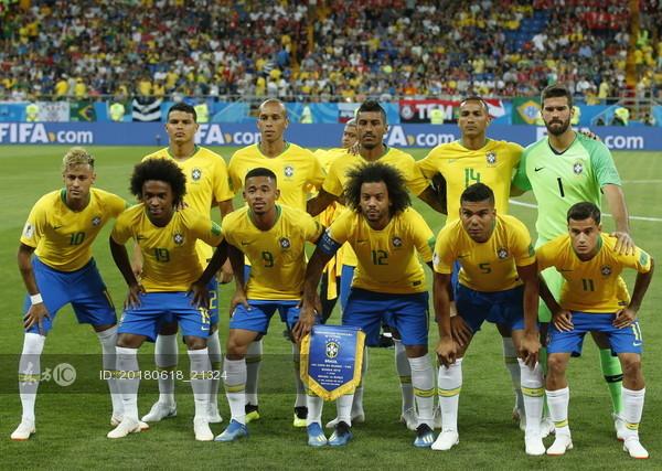巴西队首发阵容. 图片来源:东方ic