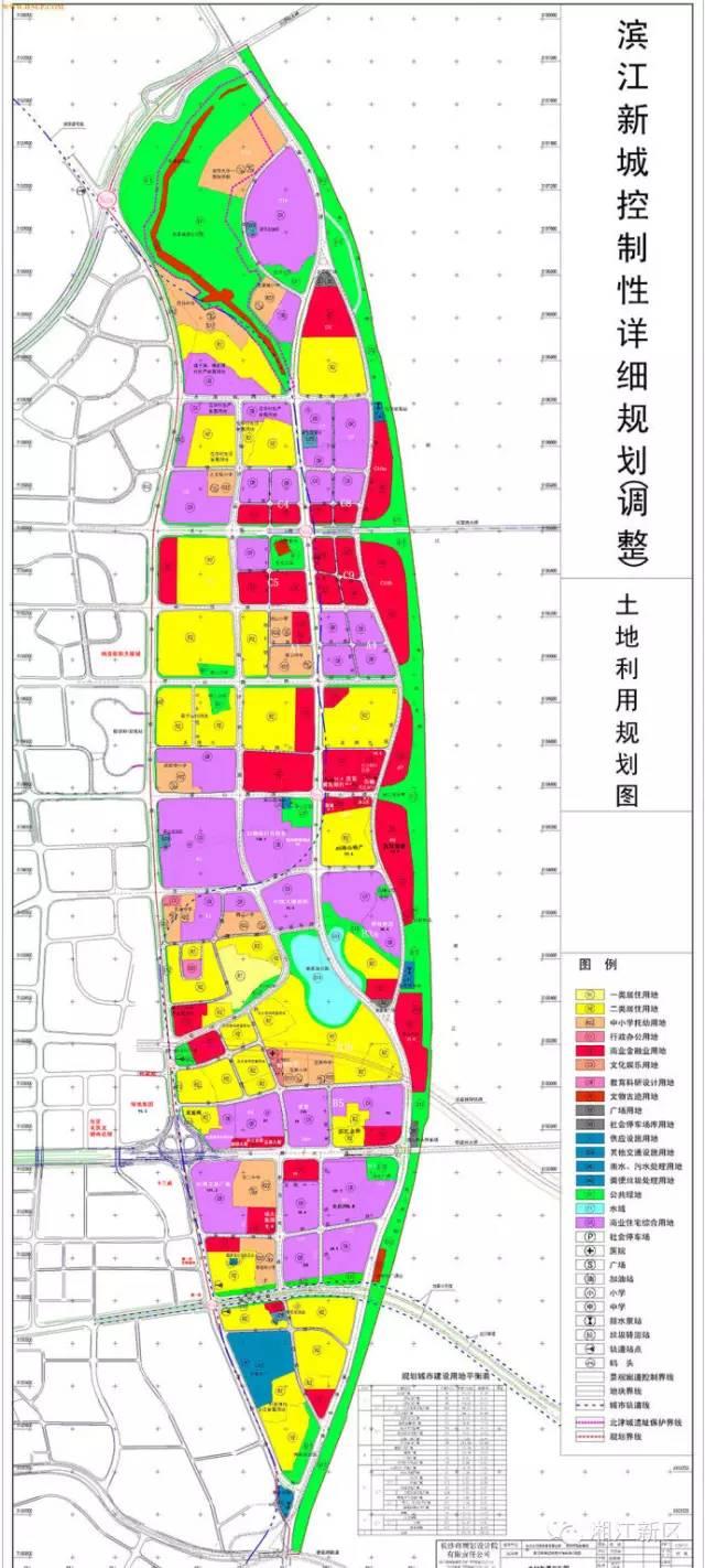 最全长沙湘江新区滨江新城项目规划