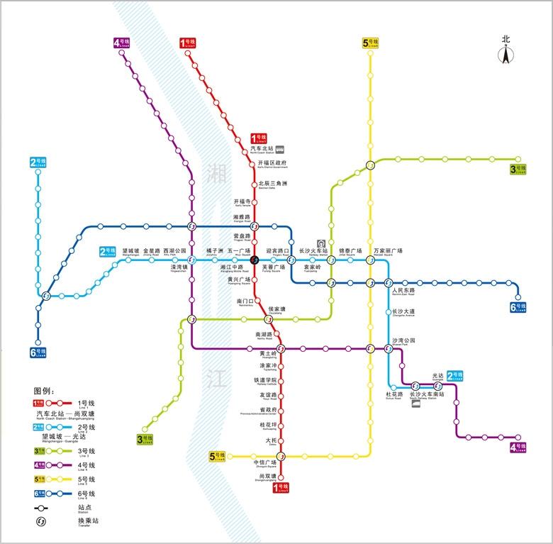 """長沙地鐵1號線明年年中載客 與2號線""""十字""""交叉圖片"""
