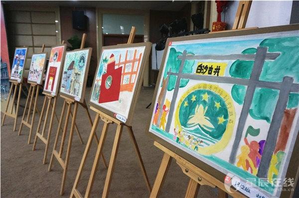 二七纪念塔儿童画