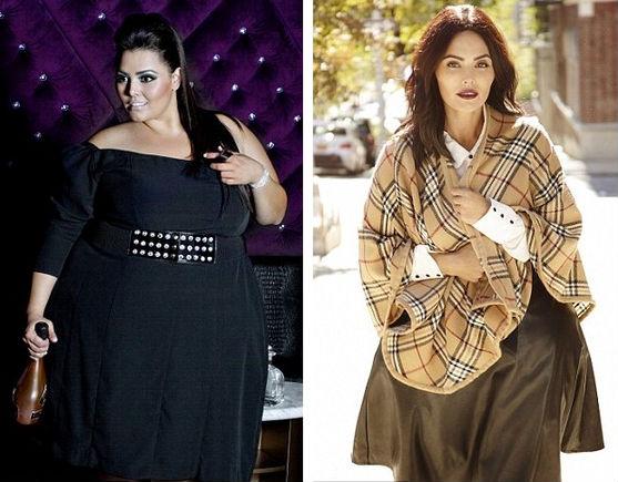 女模特减肥前后对比图【组图】